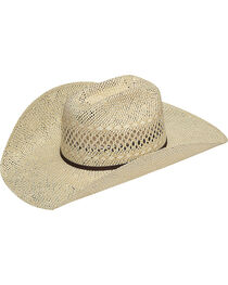 Twister Men's Twisted Weave Straw Cowboy Hat, , hi-res