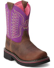 Ariat Kid's Thunderbird Fatbaby Western Boots, , hi-res