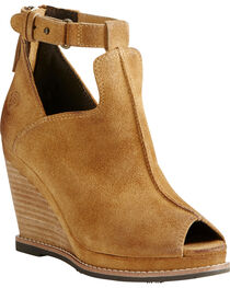 Ariat Women's Backstage Peep Toe Wedges, , hi-res