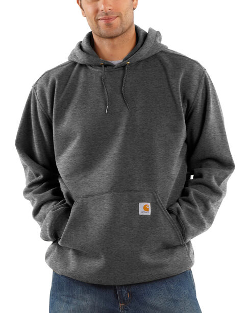 Carhartt Men's Midweight Hooded Pullover Sweatshirt, Charcoal, hi-res