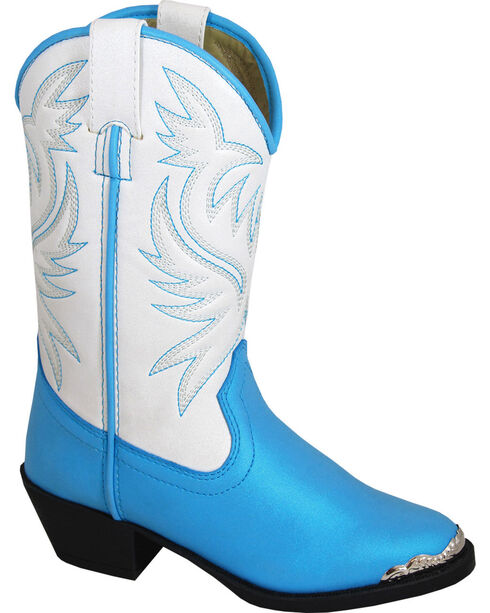 Smoky Mountain Girls' Lily Western Boots - Medium Toe , Blue, hi-res
