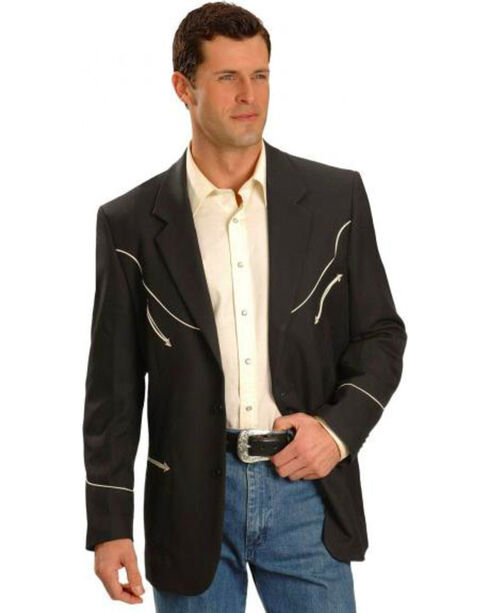 Scully Black Retro Western Jacket - Big and Tall, , hi-res