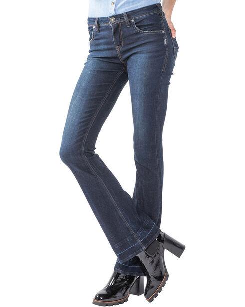 Silver Women's Indigo Izzy Rinse Wash Jeans - Boot Cut , Indigo, hi-res