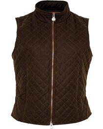 Outback Women's Oilskin Quilted Vest, , hi-res