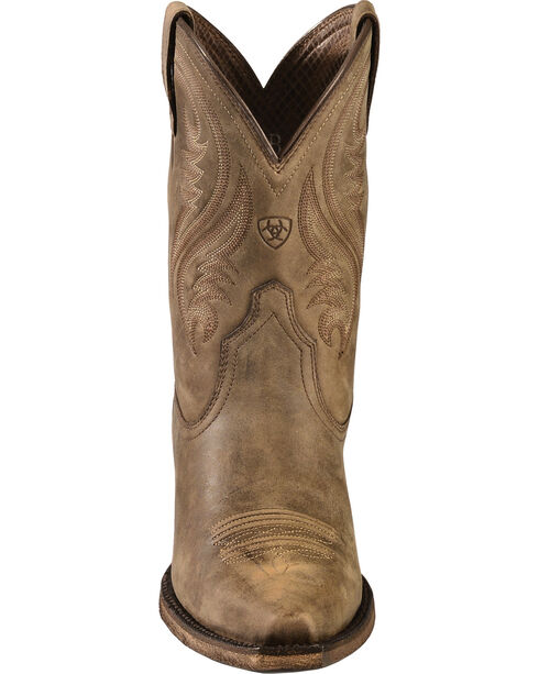 Ariat Brown Willow Short Cowgirl Boots - Snip Toe, Brown, hi-res