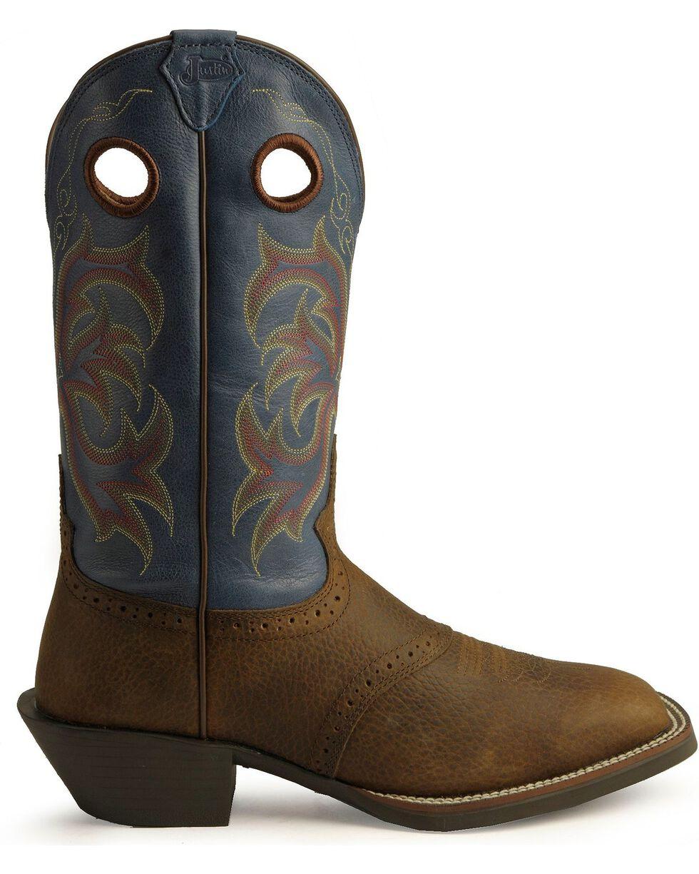 Justin Men's Stampede Punchy Western Boots, Brown, hi-res