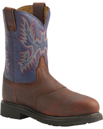 Ariat Men's Sierra Saddle Steel Toe Work Boots, , hi-res