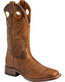 """Boulet Men's 13"""" Wide Square Toe Stockman Boots, , hi-res"""