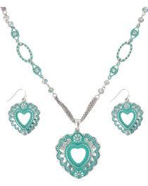 Shyanne® Women's Scalloped Heart Jewelry Set, , hi-res