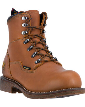 Dan Post Men's Detour Steel Toe Work Boots, Honey, hi-res