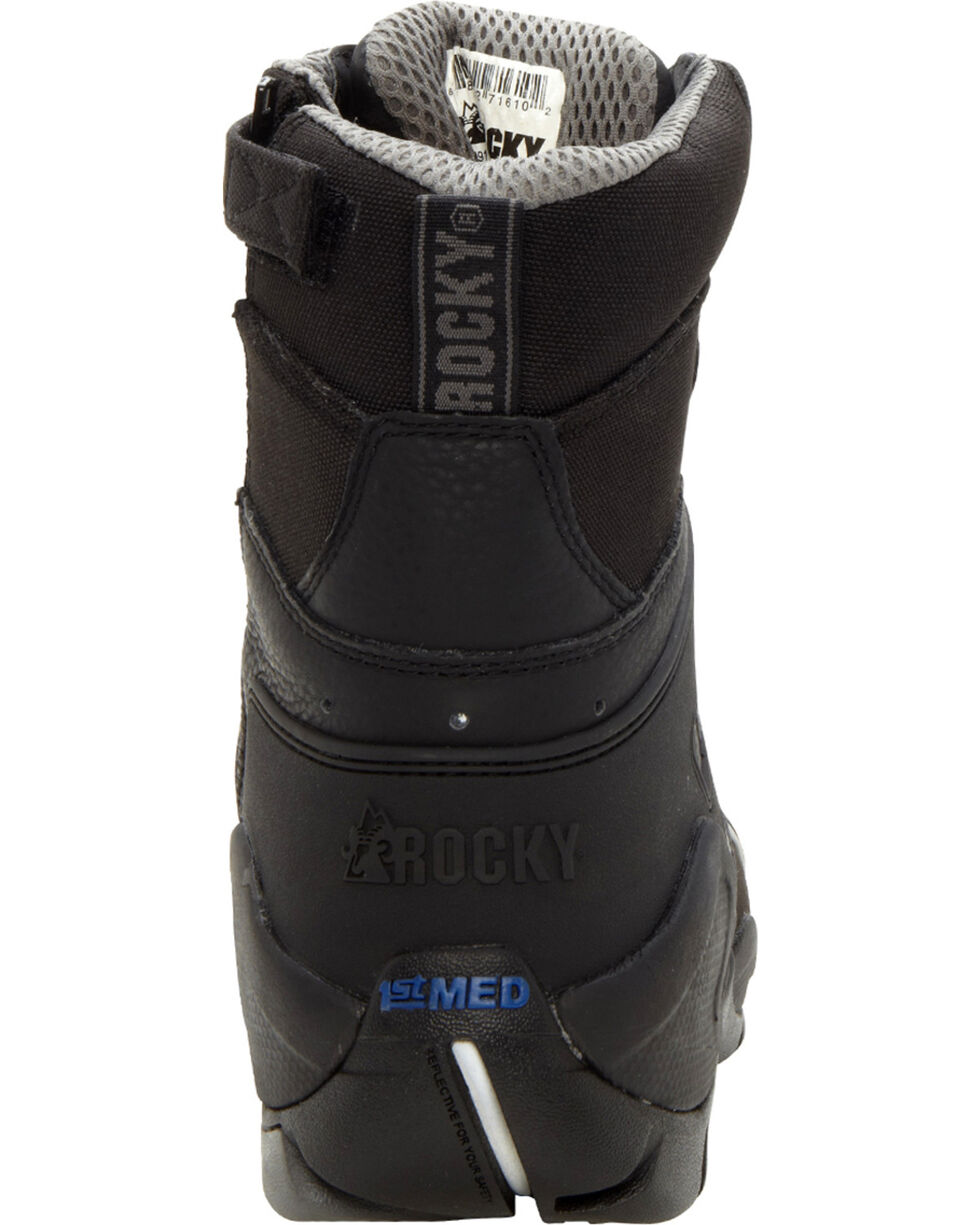 Rocky Men's 1st Med Carbon-Fiber Toe Boots, Black, hi-res