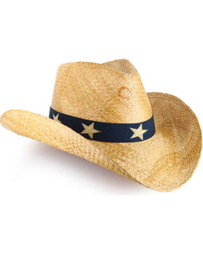 Charlie 1 Horse Women's Flag Fashion Straw Hat, Natural, hi-res