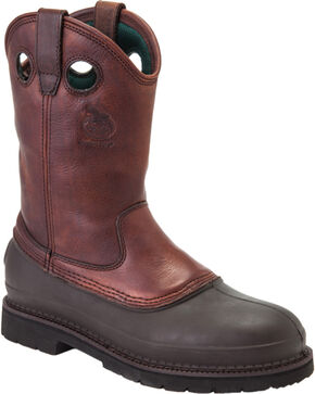 Georgia Men's Muddog Steel Toe Comfort Core Work Boots, Brown, hi-res
