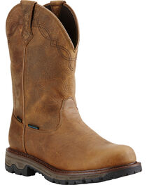 Ariat Men's Insulated Conquest Waterproof Pull-On Hunting Boots, , hi-res
