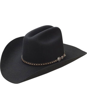 Master Hatters Men's Black TY 3X Wool Felt Cowboy Hat, Black, hi-res