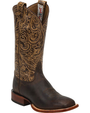 Tony Lama Women's Printed Western Boots, Brown, hi-res