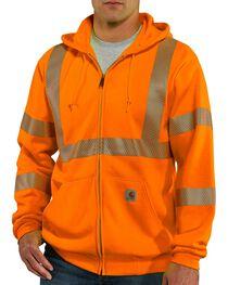 Carhartt High-Visibilty Zip-Front Class 3 Sweatshirt, , hi-res