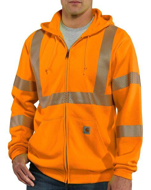 Carhartt Men's High Visibility Class 3 Sweatshirt, Orange, hi-res