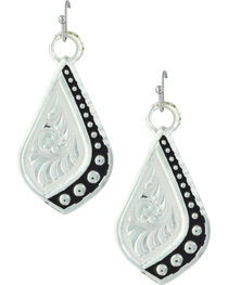 Montana Silversmiths Women's Silver The Path I Take Earrings , , hi-res