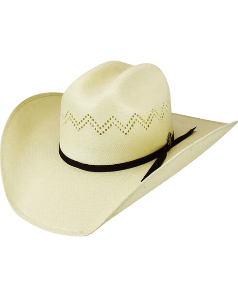 Bailey Men's Charlee 15X Straw Western Hat, Natural, hi-res