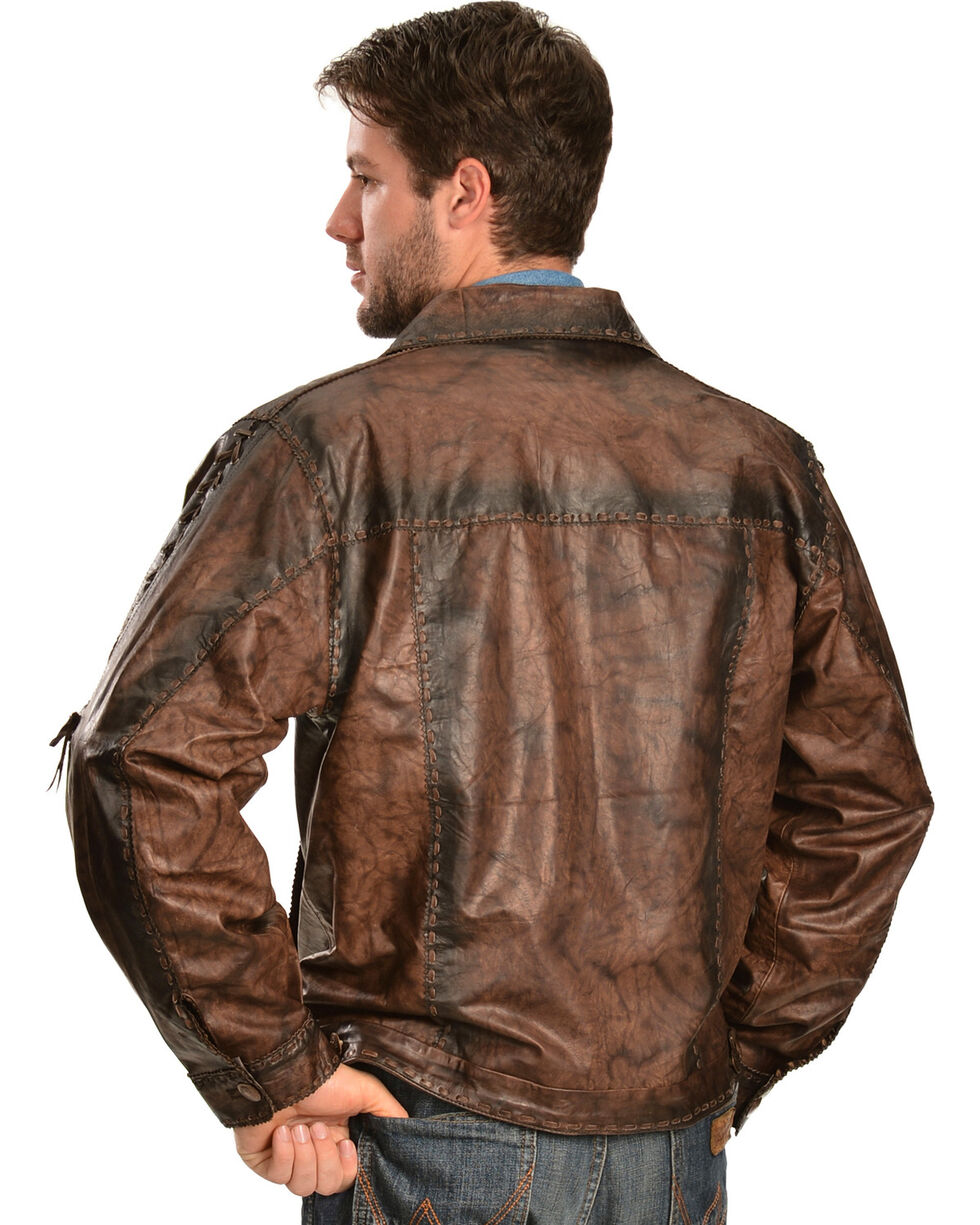 Kobler Leather Men's Rusty Leather Jacket, Brown, hi-res
