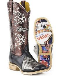 Tin Haul Women's Winning Hand Casino Sole Cowgirl Boots - Square Toe, , hi-res