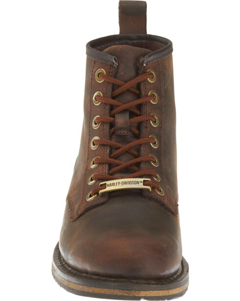 Harley-Davidson Men's Darrol Leather Motorcycle Shoes, Brown, hi-res
