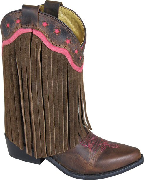Smoky Mountain Girls' Helena Western Boots - Medium Toe, Brown, hi-res