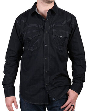 Cody James® Men's Western Knight Long Sleeve Shirt, Black, hi-res