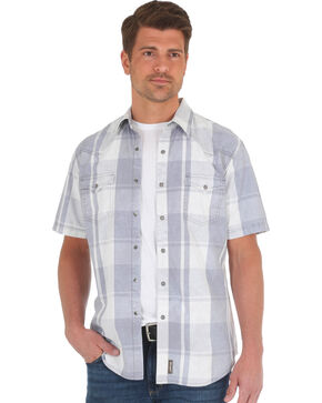 Wrangler Men's Grey Retro Premium Western Shirt , Grey, hi-res