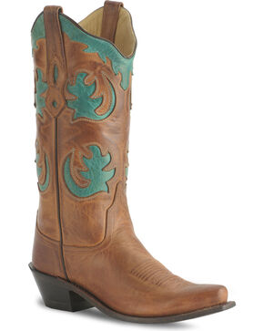Old West Women's Fashion Western Boots, Brown, hi-res