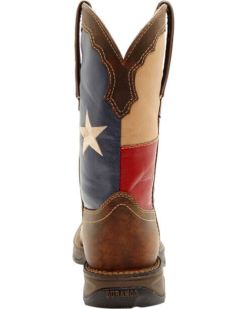 Durango Women's Lady Rebel Texas Flag Western Boots, Brown, hi-res