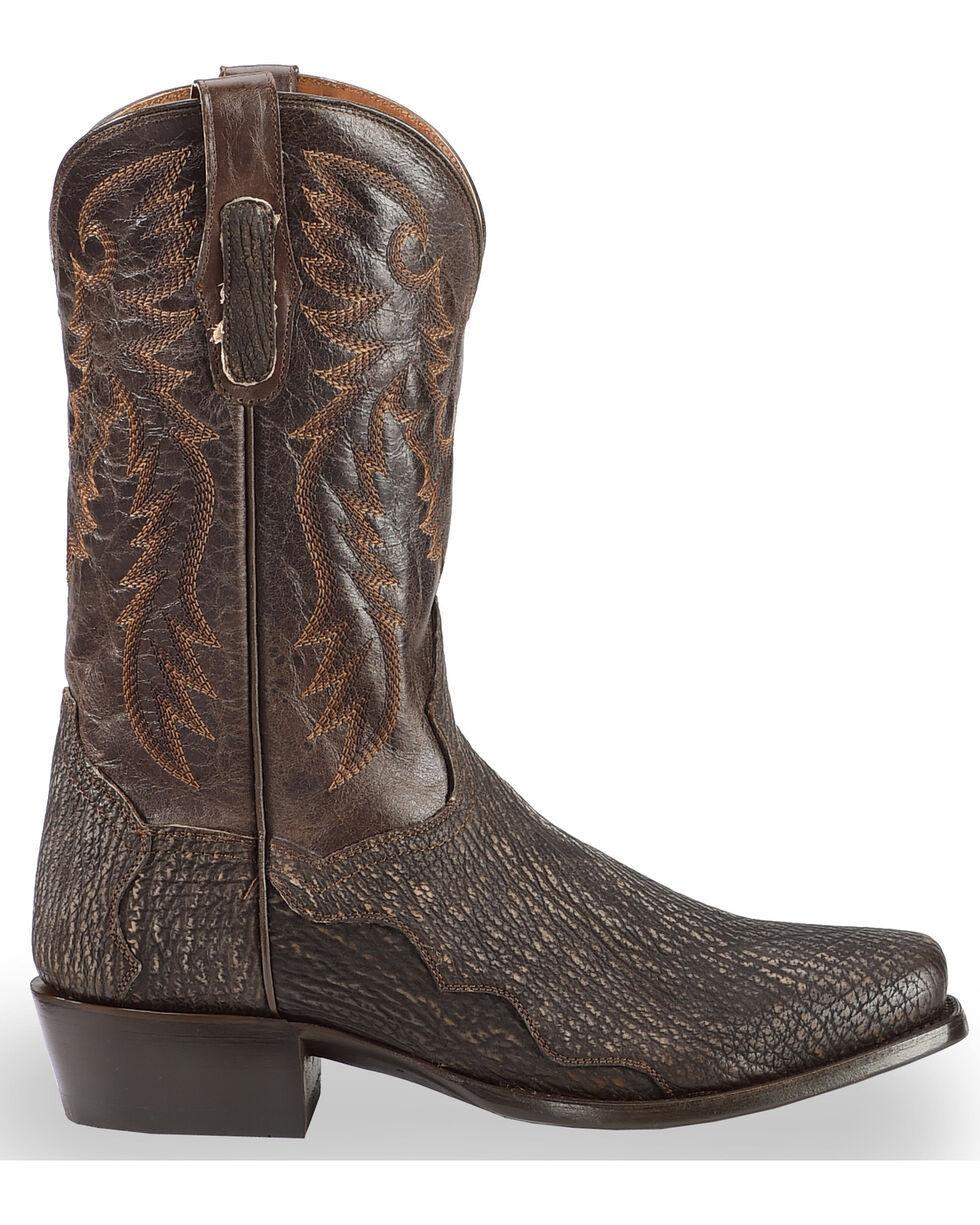 Dan Post Men's Chocolate Shark Cowboy Boots - Square Toe , , hi-res