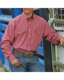 Cinch Men's Long Sleeve Flap Pocket Shirt, , hi-res