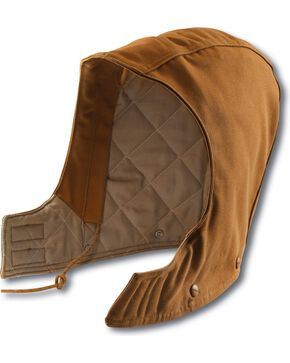 Carhartt Men's Flame Resistant Quilt Lined Duck Hood, Brown, hi-res