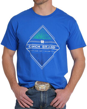 Cinch Men's Royal Blue Logo Screen Print Tee, Royal Blue, hi-res