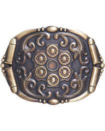 AndWest Men's Antique Bronze Revolver Belt Buckle, , hi-res