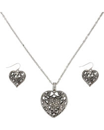 Shyanne® Women's Filigree Heart Jewelry Set, , hi-res