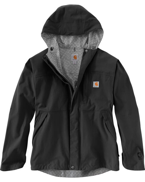 Carhartt Men's Shoreline Vapor Waterproof Jacket, Black, hi-res