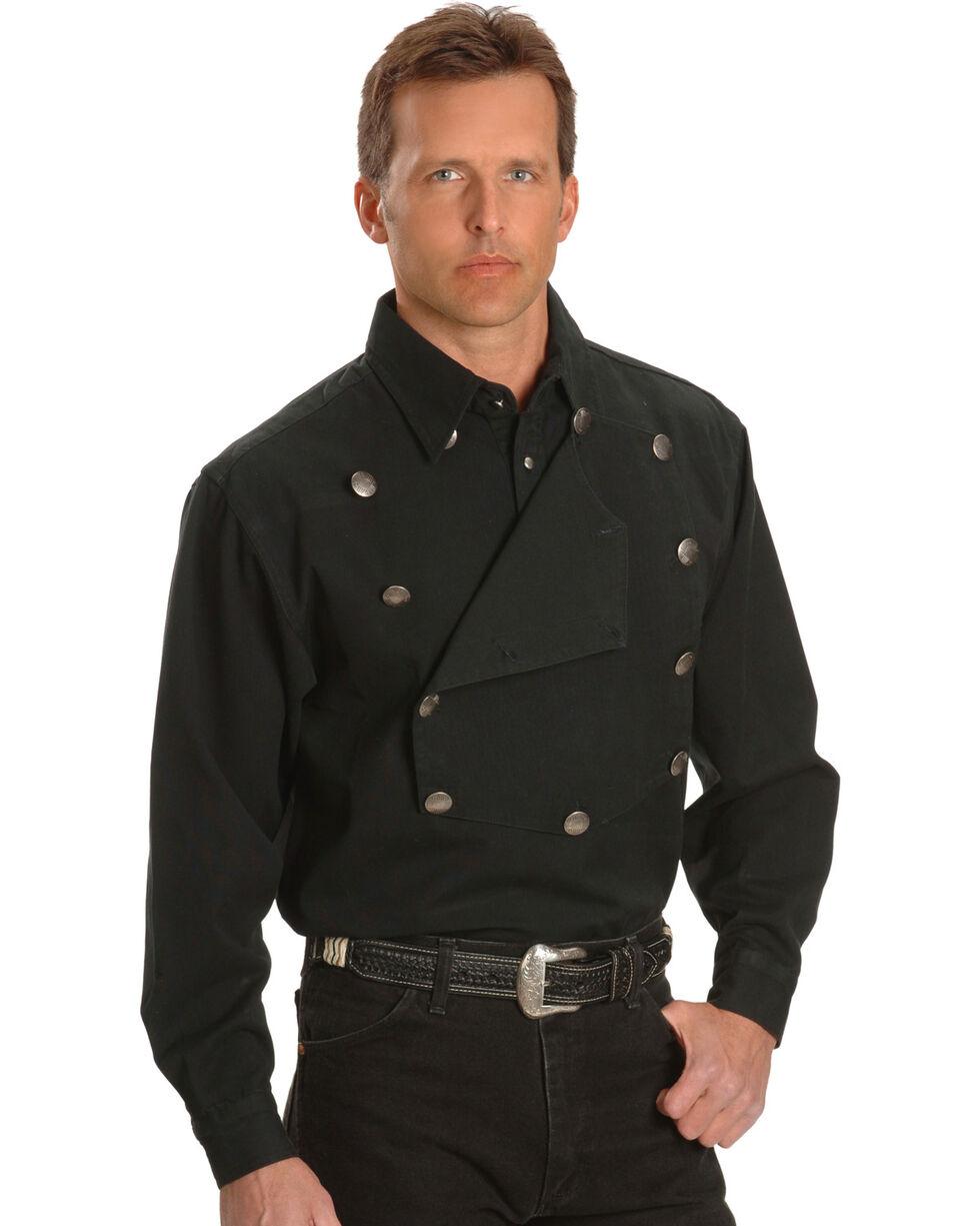 Scully Men's Range Wear Bib Shirt, Black, hi-res