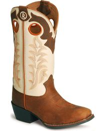 Tony Lama Children's Tiny Lama 3R Western Cowboy Boots - Square Toe, , hi-res