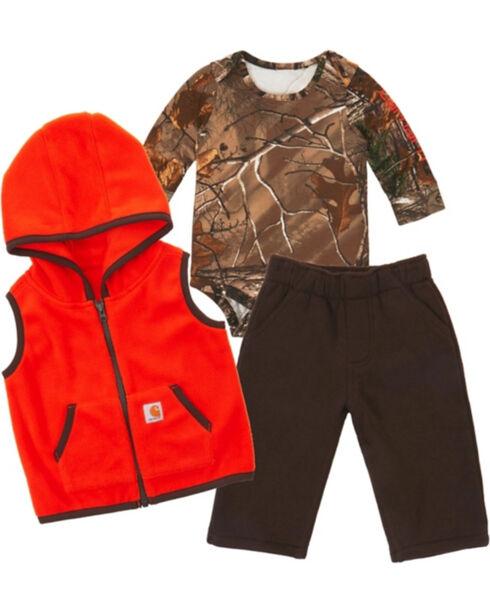 Carhartt Infant Boys' 3-Piece Gift Set , Orange, hi-res