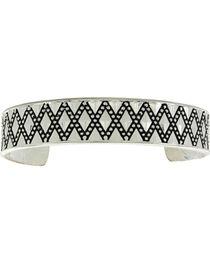 Montana Silversmiths Silver Diamond Pattern Cuff Bracelet , , hi-res