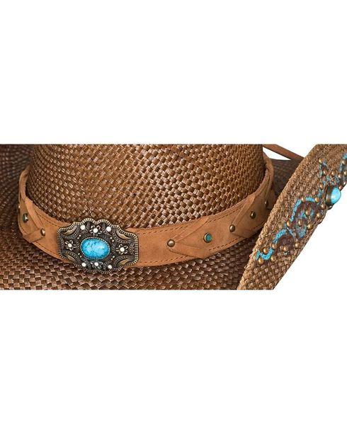 Bullhide Women's Amnesia Straw Hat, Brown, hi-res