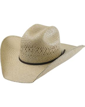 Tony Lama Rio Jute Straw Cowboy Hat, Natural, hi-res
