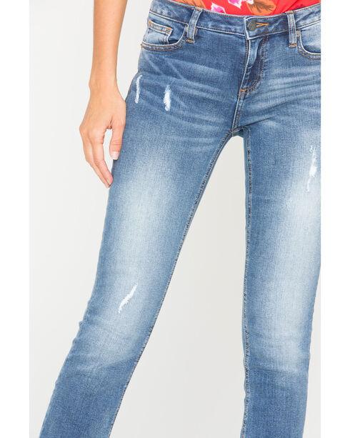 Miss Me Women's Indigo So Torn Slim Jeans - Boot Cut , Indigo, hi-res