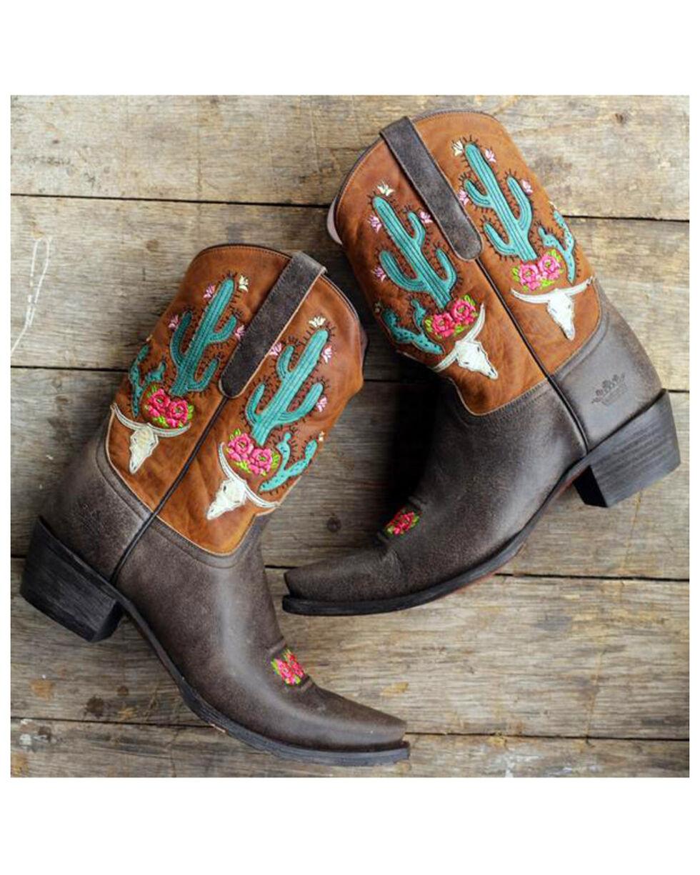 Lane Junk Gypsy Women's Bramble Rose Western Boots, Brown, hi-res
