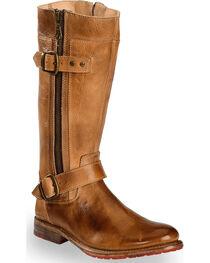 Bed Stu Women's Tan Gogo Lug Strap Boots - Round Toe , , hi-res
