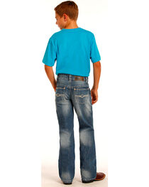 "Rock & Roll Cowboy Boys' Indigo ""A"" Embroidery Running Stitch Jeans - Boot Cut, , hi-res"