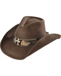 Bullhide Hats Women's State of Grace Felt Cowgirl Hat, , hi-res